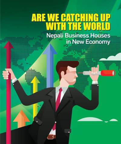 "<p style=""text-align:center""><span style=""font-size:20px"">ARE WE CATCHING UP<br /> WITH THE WORLD</span><br /> <span style=""font-size:18px"">Nepali Business Houses in New Economy</span></p>"