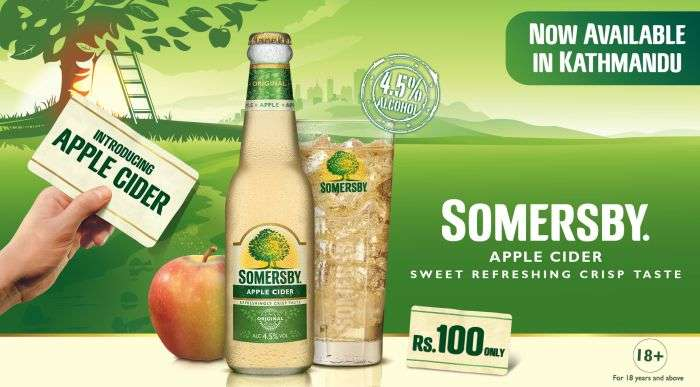 Gorkha Brewery Launches Somersby Apple Cider