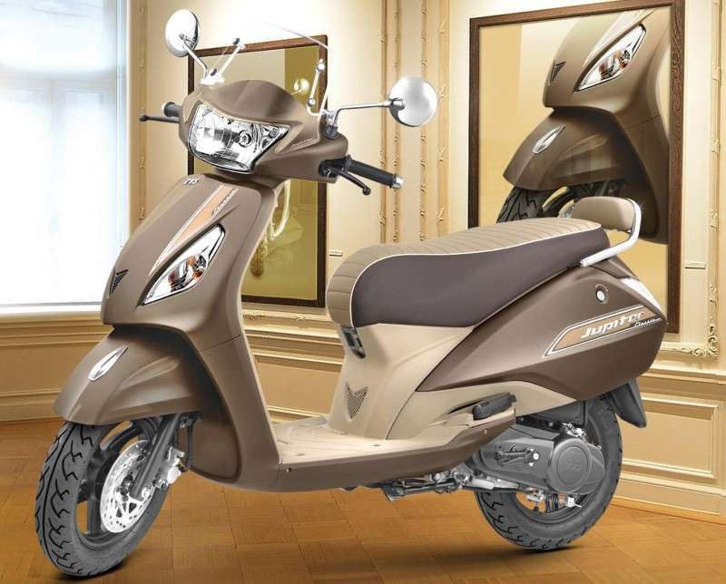 Tvs Jupiter Classic Now Available In Autumn Brown Colour New