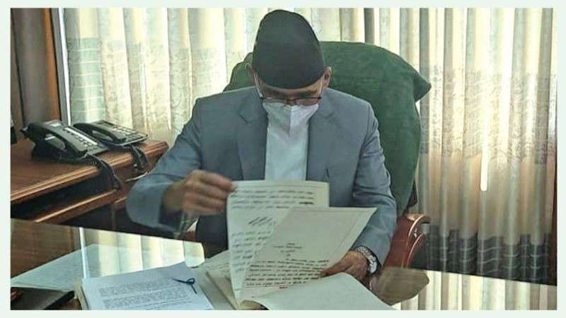 Newly-Appointed Finance Minister Poudel Takes Charge of his Responsibilities