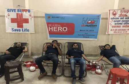 Round Table Nepal collects 1054 pints of blood