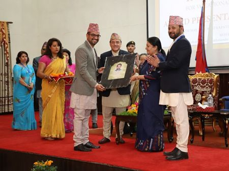 Dhakal, Dr Pokharel bag Vocational Excellence Award
