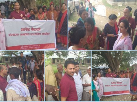 Everest Bank provides relief materials to Flood Victims of Siraha