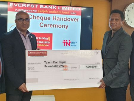 Everest Bank Continuous its Support to Teach for Nepal