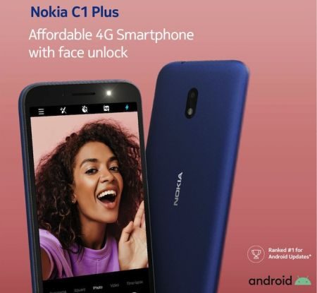 Nokia Launches C1 Plus with Face Unlock
