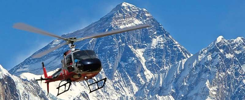 Simrik Air Helicopters Searching for Missing Bulgarian Climber