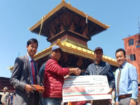 Om Development Bank's Financial Support for Manakamana Temple
