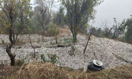 Farmers of Myagdi fed up with Repeated Hailstones