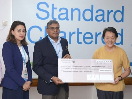 Standard Chartered Bank supports Tilganga Institute of Ophthalmology
