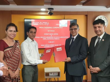 Everest Bank signs MoU with National PABSAN