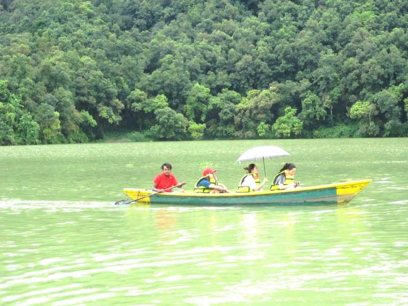 Foreign tourists boating in Fewa Lake in this recent photo. Photo: Narahari Poudyal/NBA